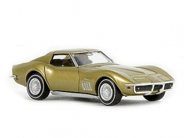Brekina 19962 HO Corvette C3 Stingray gold H0 Chevrolet Corvette