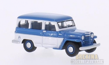 BoS 87010 Jeep Willys Station Wagon, blau/weiss