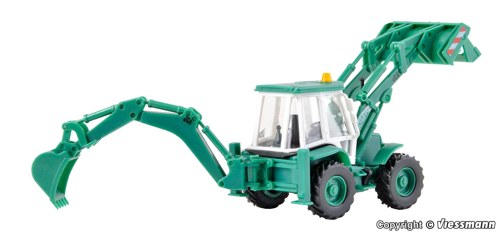 NEU /& OVP Bausatz Kibri 15217 H0  Baggerlader JCB 4CX 4x4x4 SchwarzBau